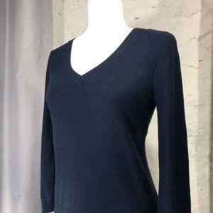 Tommy Hilfiger Navy Blue V-neck Sweater